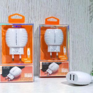 Chargeur MOXOM MX HC02 2in1 Lightning 5V iOS, Android